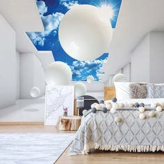 Architecture White Modern Architecture Sky White x Semi-Gloss Wall Mural Brayden Studio Size: L x W Photo Wallpaper, Wallpaper Roll, Wall Wallpaper, Modern Japanese Architecture, White Space, Wall Murals, Ceiling Lights, Stability, Strong