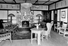 """Inside White Lake Villa.  We called this the """"Reception Room""""."""