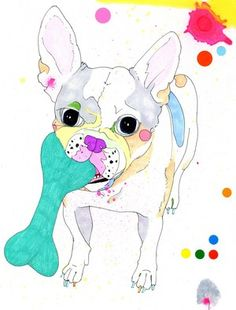 another frenchie painting by Sarah Beetson  Little Man.jpg