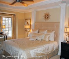 The Graphics Fairy - DIY: Using Wood Trim to add Interest to a Bed