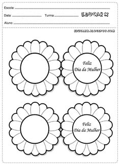 Atividades Dia internacional da mulher para colorir Activities, Education, Day, Women, Mother's Day Activities, Kids Activity Ideas, Manualidades, Classroom, Musica