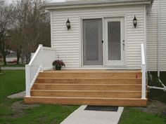 Liking the wide step idea for back door leading to platform deck/patio