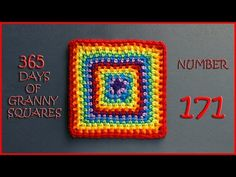 365 Days of Granny Squares Number 171 - YouTube