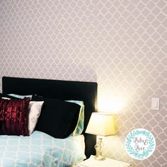 How To Stencil A Pattern On A Feature Wall – Lulu & Lace