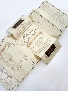 Marauder's Map Invite! I may currently be thinking about a Harry Potter themed wedding...
