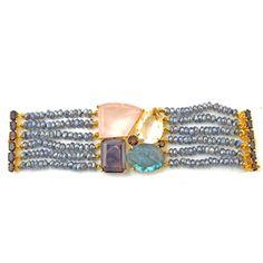 Bounkit Bracelet withTopaz and Labrodite