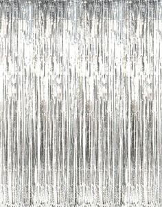 Metallic Silver Foil Fringe Curtains (1 pc) Fun Express http://smile.amazon.com/dp/B004N5BKC0/ref=cm_sw_r_pi_dp_uYLMtb0RQ40MMF58