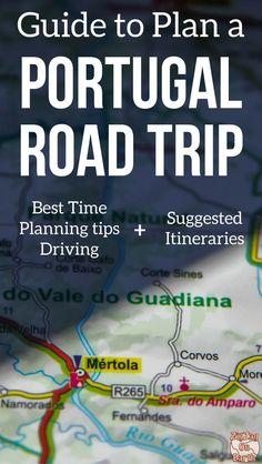 Map Road Trip Portugal Itinerary Map - Roadtrip Portugal Travel
