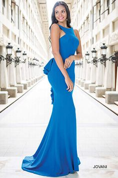 Open Back Fitted Dress 21899 Prom Dresses Jovani fdc7f42fd