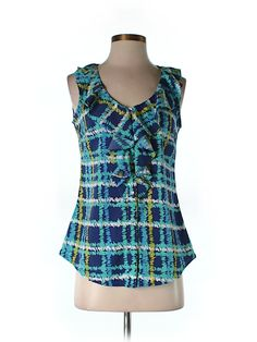 Bought this and it's absolutely gorgeous!  Love the colors and the ruffled neck!  Perfect shirt!  Check it out—Banana Republic Factory Store Sleeveless Blouse for $18.99 at thredUP!