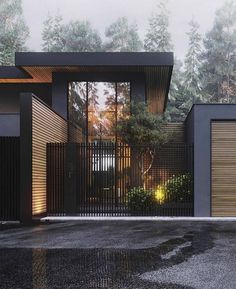 Architecture House Design The Best Dream House Exterior Ideas - House Topics Modern Exterior, Exterior Design, Black Exterior, Interior Modern, Dream House Exterior, Facade House, Modern House Design, Modern House Exteriors, Modern Fence Design