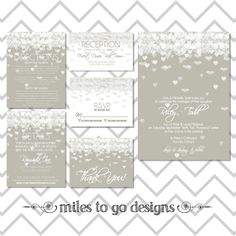SUMMER SALE  DIY Printable Wedding Invitation by milestogodesigns, $60.00