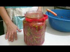 Kışlık kahvaltılık domates soslu biber turşusu tarifi - YouTube