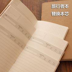 Do家旅行者日记本笔记本TN手账本芯记事本骑马钉替换内芯21*11CM-tmall.com天猫