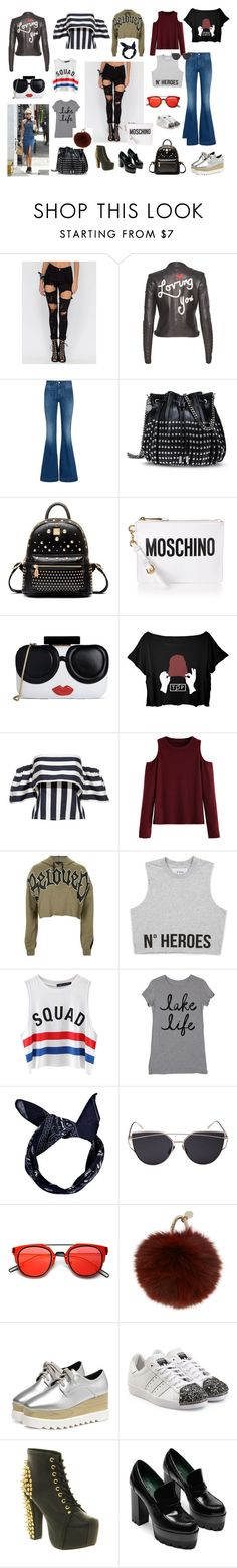 """painel moderno"" by ale-duarte-1 on Polyvore featuring moda, Alice + Olivia, STELLA McCARTNEY, Moschino, Topshop, Chicnova Fashion, Boohoo, Yves Salomon, adidas Originals e Jeffrey Campbell"