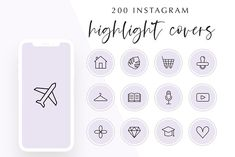 200 Instagram Story Highlight Covers by Hello Manhattan on @creativemarket Social Media Template, Story Highlights, Instagram Story, Templates, Cover, Manhattan, Branding, Icons, Etsy
