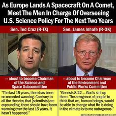 How can people who do not believe in science be on science committees? We're becoming laughingstocks around the world.