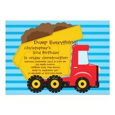 How to Cute Dump Trucks Boys Birthday Party Invitations we are given they also recommend where is the best to buy