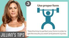 Jillian's Tips to Achieve Your Fitness Goals   The Biggest Loser