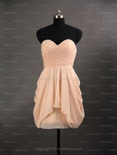 Well this is a cute dress. Grad Dresses, Cute Dresses, Wedding Dresses, Peach Dress Short, Strapless Dress Formal, Formal Dresses, Different Colors, My Style, Pretty