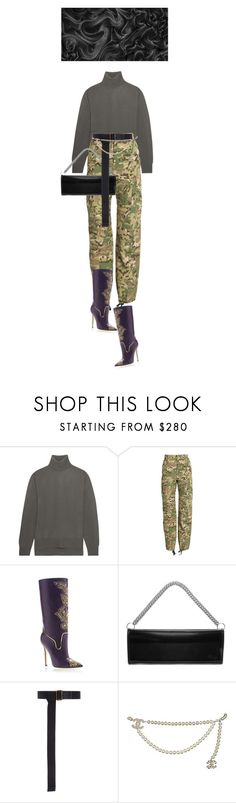 """""""002"""" by fafefysfofu ❤ liked on Polyvore featuring Lemaire, Vetements, Versace, Tomas Maier and Chanel"""