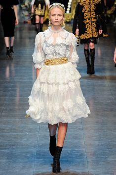 Vestido blanco Dolce Gabanna (colección otoño-invierno 2012-2013)