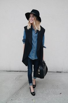 Little Blonde Book by Taylor Morgan | A Life and Style Blog : Denim X Denim : Saturday Night