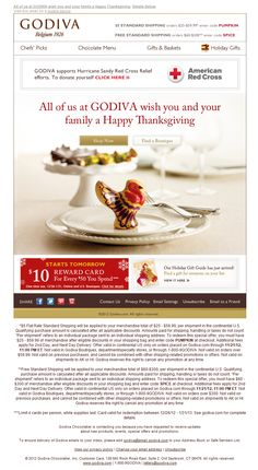 33 best thanksgiving emails images on pinterest email newsletter godiva thanksgiving email m4hsunfo