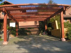 COBERTIZO PARA AUTO DE 5,00X5,5O Outdoor Kitchen Patio, Blessed Mother, Patio Design, Backyard, Outdoor Structures, Home Decor, Gardens, Swimming Pools, Pallet Wall Shelves