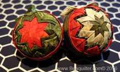 quilted christmas fabric ornament with island batik