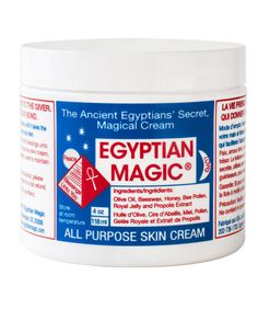 PRODUCT - Egyptian Magic as the Solution for Anything from Split Ends, Nappy Rash, Under Eye Circles, Eczema, Psoriasis, Dry Elbows, Knees & Cracked Heels, to Name Only a Few of its Many Talents. - Sarah Coonan, Beauty Buyer.