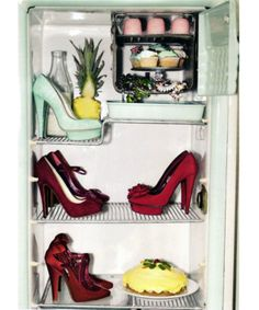 Shoes in the fridge