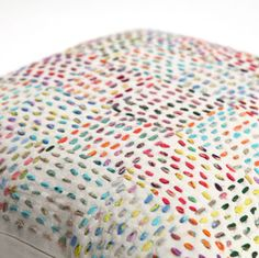 Cupcake looking pillows - patchwork, quilt-like stitching