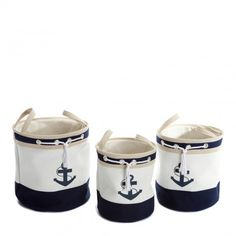 Set of Three High Organiser Baskets - Nautical Delights - Private sales | BrandAlley