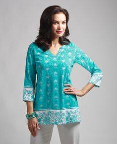 (Northern Reflections) Kaftan, Tunic Tops, Sleeves, Beauty, Printed, Women, Style, Fashion, Swag