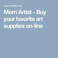 Merri Artist - Buy your favorite art supplies on-line