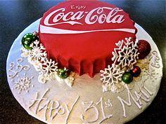 this would be good, esp since i have a coca cola cake recipie Coca Cola Party, Coca Cola Cake, Pretty Cakes, Beautiful Cakes, Amazing Cakes, Unique Cakes, Creative Cakes, Coke Cake, Coca Cola Christmas