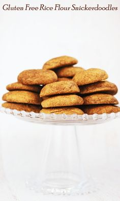 Looking for a gluten-free cookie recipe? Try this easy to make Gluten Free Rice Flour Snickerdoodles cookie recipe. Snickerdoodle cookies are an ideal rice flour recipe for a cookie exchange, a holiday cookie swap or homemade gifts. Gluten Free Deserts, Gluten Free Cupcakes, Best Gluten Free Recipes, Gluten Free Rice, Gluten Free Sweets, Foods With Gluten, Gluten Free Baking, Healthy Baking, Gf Recipes