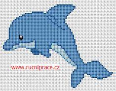 Dolphin, free cross stitch patterns and charts - www.free-cross ...