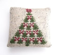 Fair Isle Christmas Tree charts & cushion cover - Start now in time for Christmas! - LoveKnitting