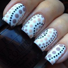 cool nails art designs 2016 trends manicures first made an appearance at the spring 2016 shows at New York Fashion Week, but you can where them now. Your fingertips are about to be super trendy. Related Poststrendy and stylish nail art for nail art Dot Nail Art, Pink Nail Art, Polka Dot Nails, Polka Dots, Cute Pink Nails, Pretty Nails, Nail Art Designs 2016, Dot Designs, Pretty Designs