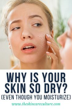 Your skin can become dry even though you moisturize regularly for a number of reasons including dry and cold climate, using the wrong skincare products for your skin's needs, not moisturizing adequately, relying on a low-nutritious diet, hormonal changes, certain medication, etc. Best Skin Care Regimen, Skin Care Tips, Beauty Tips, Beauty Hacks, Best Skincare Products, Hormonal Changes, Dull Skin, Skin Care Remedies, How To Get Rid Of Acne