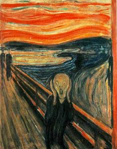 """""""...I heard the enormous infinite scream of nature."""" Read Edvard Munch's incredible explanation of his most famous painting """"The Scream"""" on the week of his birth.  #Painting #ArtHistory #Inspire"""