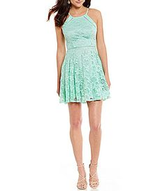5f759364bd6 B Darlin High Neck Lace Aline Dress  Dillards Junior Dresses