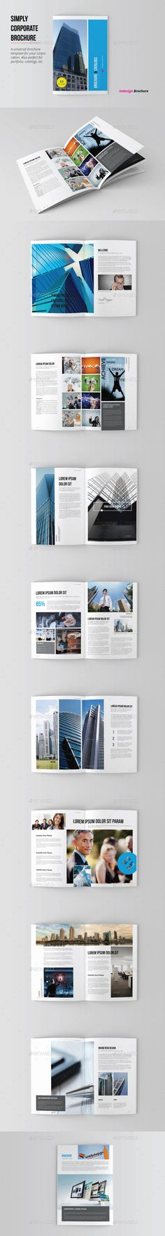 Corporate Minimal Brochure Template #design Download: http://graphicriver.net/item/corporate-minimal-brochure/12646356?ref=ksioks