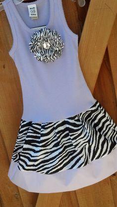 Lavender Zebra Tank Dress Available Newborn through by RNBDesignz, $22.95