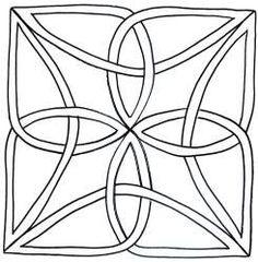 "Downloadable Quilting Stencils | Celtic Knot Block 7"""
