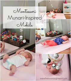 Ideas for DIY Montessori baby mobiles.