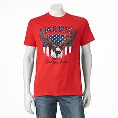 Give your style some justice with this men's tee. Graphic Tees, Graphic Sweatshirt, Sweatshirts, Sweaters, Mens Tops, Clothes, Box Store, Women, Eagle