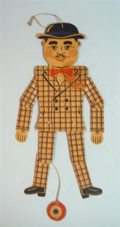 Jointed or Articulated Dapper Gent Paper Doll or Toy - Pantin